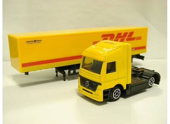 Mercedes DHL Express & Logistics Semi Truck w/ Trailer 1/87