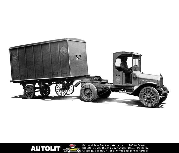 1921 Mack Truck Semi Trailer Factory Photo