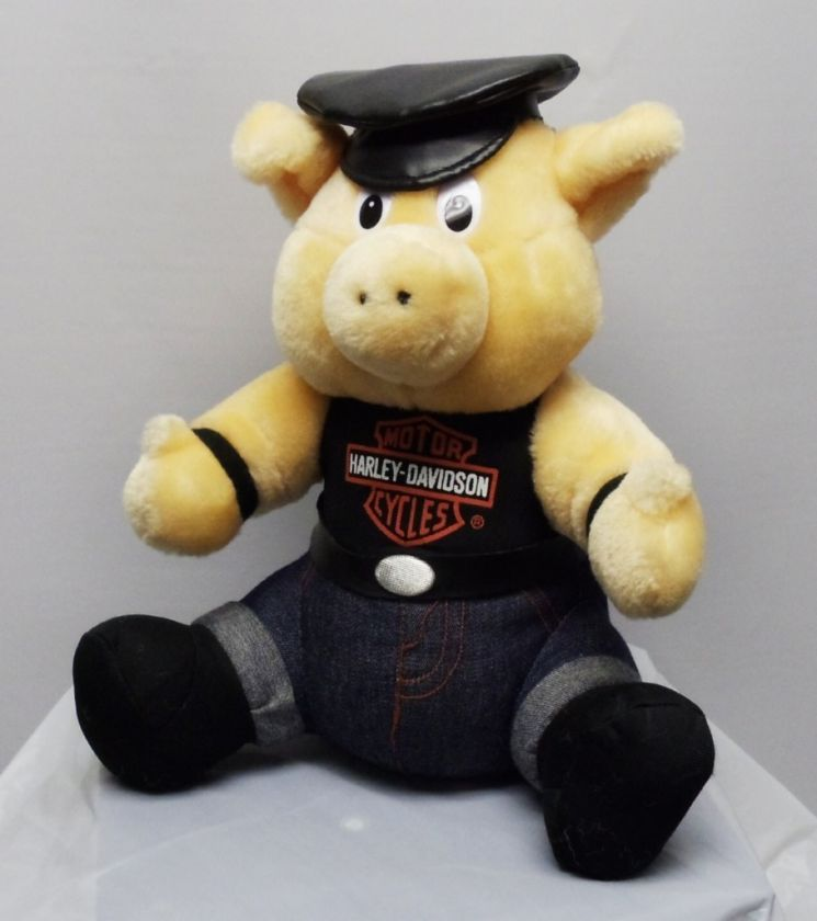 New Harley Davidson Motorcycles Stuffed Toy Pig Mascot